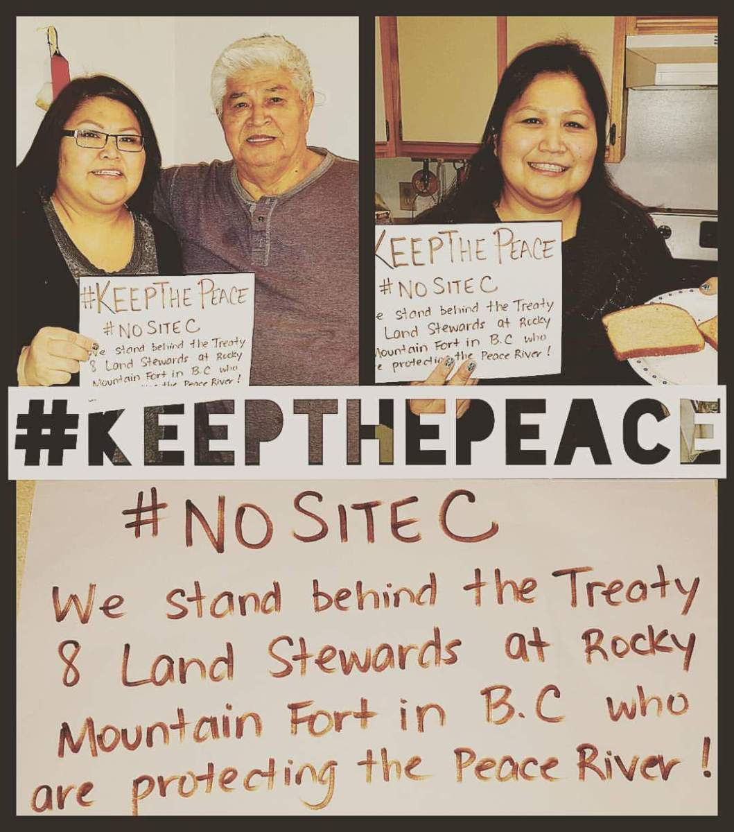 Solidarity for the Treaty 8 Stewards of the Land #Keepthepeace
